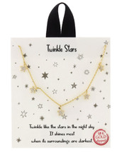 Twinkle Stars Necklace: Gold OR Silver