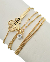 Love Key Bracelet Set