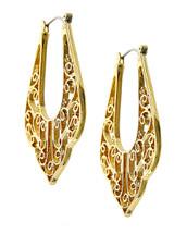 Ornate Filigree Hoop Earrings