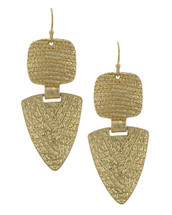 Textured Maya Earrings: Gold Or Silver