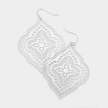 Filigree Fan Earrings: Gold Or Silver