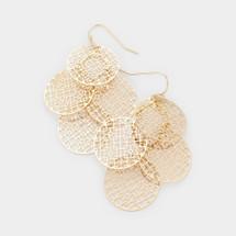 Filigree Round Cluster Earrings