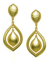 Taj Earrings: Gold Or Silver