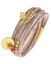 Mauve-u-lous Leather Wrap Bracelet