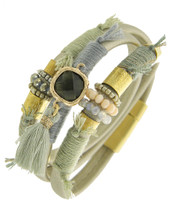 Pismo Beach Leather Wrap Bracelet