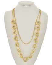 Long Loops Layered Necklace