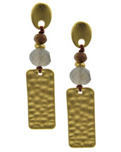 Matte Gold Hammered Earrings
