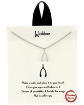Wishbone Necklace: Gold OR Silver