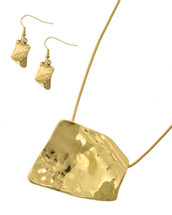 Abstract Hammered Necklace Set