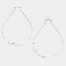 Gold Filled Hammered Oval Pin Catch Earrings: Gold Or Silver