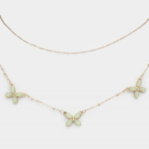 Butterfly Layered Necklace - Mint