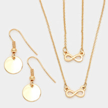 Double Infinity Necklace Set
