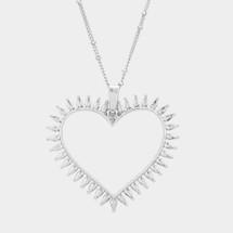Open Heart Long Necklace