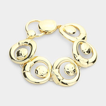 Cut Out Circle Magnetic Clasp Bracelet