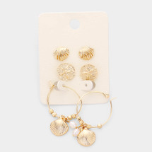 Sealife Earrings Set: Gold OR Silver
