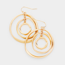 Circles Inside Circles Earrings: Gold Or Silver