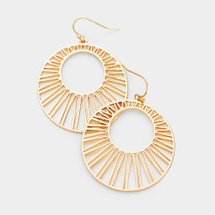 Sunburst Earrings: Gold Or Silver