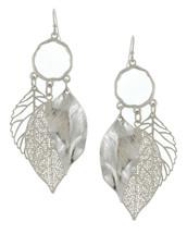 Triple Leaf Loop Earrings