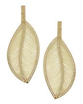 Threaded Leaf Earrings - Ivory