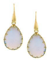 Opal Teardrop Fishhook Earrings