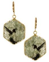 Smoky Hexagon Earrings