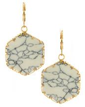Marble Hezagon Earrings