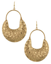 Hammered Dangle Earrings: Gold Or Silver