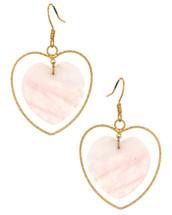 Double Hearts Rose Earrings