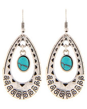 Out West Antique Silver Earrings