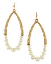 Half Pearl Hoops: Gold Or Silver