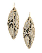 Feather Snake Earrings