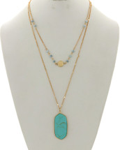 Totally Turquoise Layered Necklace