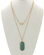 Mint Layered Necklace
