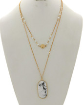 Marbelized Layered Necklace