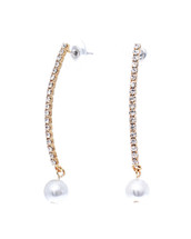 Crystal + Pearls Earrings: Gold Or Silver