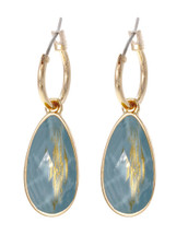 Golden Aqua Earrings
