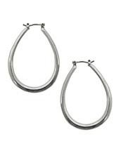 """1"""" Oval Hoops Silver"""