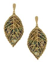 Abalone Peekaboo Hoop Earrings