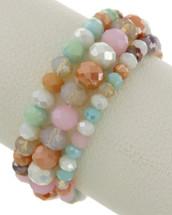 Pastel Beaded Bracelet Set