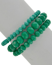 Envy Semi Precious Beaded Bracelet Set