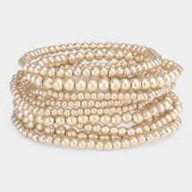 Jumbo Metal Bracelet Stack: Gold Or Silver