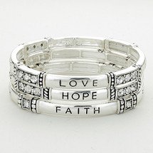Hope, Love, Faith Bracelet Set