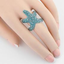 Starfish Cuff Ring