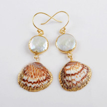 Beachy Pearl Shell Earrings
