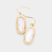 Mother Of Pearl Drop Earrings: Gold Or Silver