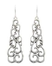 Antique Silver Swirl Earrings