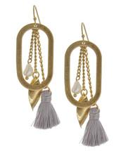Pearl Tassel Hoop Earrings