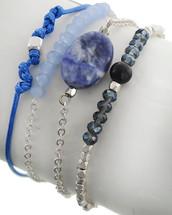 All The Blues Semi Precious Bracelet Set