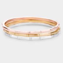 Bamboo Tricolor Bracelet Set