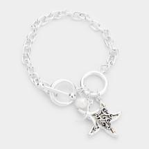 Starfish Charm Toggle Bracelet